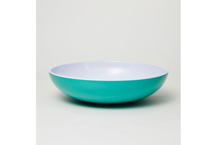 Barel Deluxe Salad Bowl Green 30cm with Salad Servers