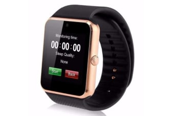 """TODO Bluetooth V3.0 Smart Watch 1.5"""" Tft Lcd Rechargeable Antilost Call - Gold"""