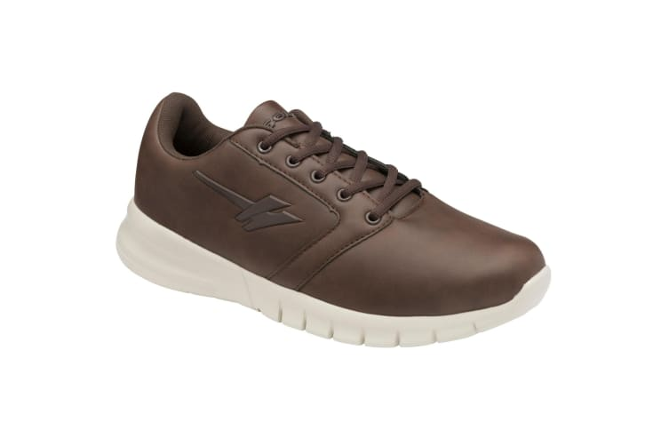 Gola Mens Oscar QF Wide Fit Trainer (Brown/Off White) (8 UK)