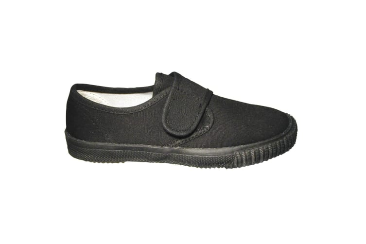 Mirak Plimsolls (BOXED) / Boys/Girls Trainers / Unisex Plimsolls (Black) (9 UK Toddler)