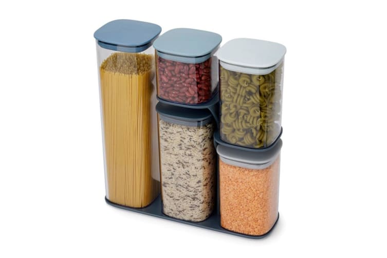 5pc Joseph Joseph Editions Podium Food Storage Container Kitchen Set w  Stand