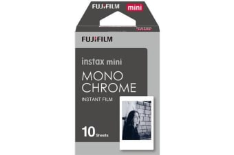 Fujifilm Instax Mini Film 10 Pack Monochrome