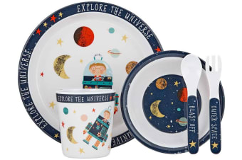Ashdene Blast Off 5-Piece Kids Dinner Set