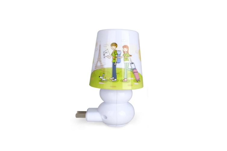 Led Night Lamp Plug-In Telecontrol Timing Creative Smart Cartoon Bedroom Headlamp - 2 White Light