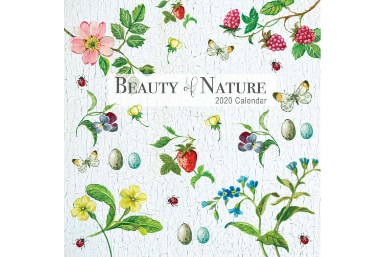 Beauty of Nature - 2020 Premium Square Floral Wall Calendar 16 Months New Year