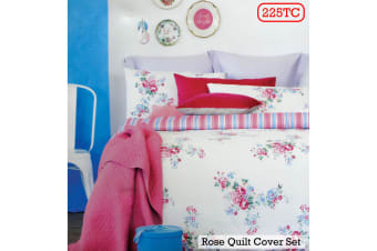 225TC Rose Pink Quilt Cover Set or European Pillowcases by Ardor