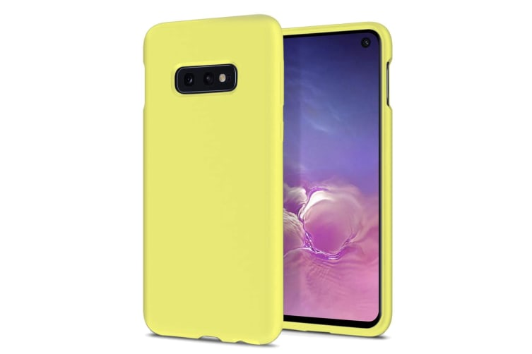 ZUSLAB Galaxy S10e Nano Silicone Case Shockproof Gel Rubber Bumper Protective Cover for Samsung - Yellow