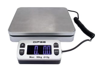 50Kg Digital Postal Scale Blue Lcd Display Stainless Steel 2G Graduation Post