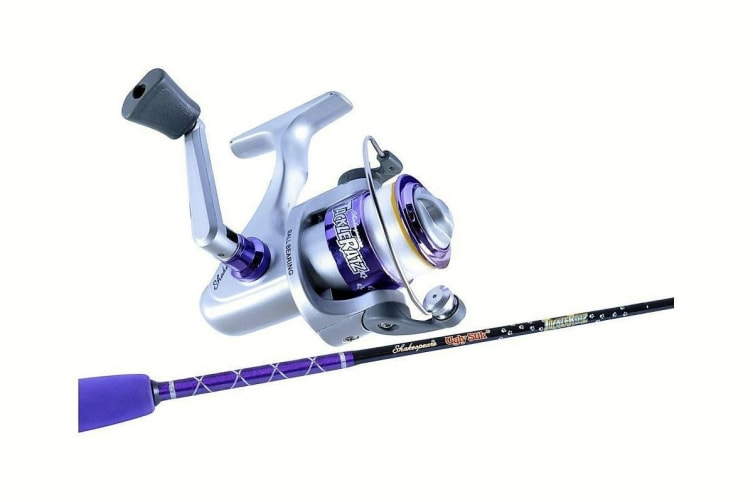Ugly Stik 3'9 Tackle Ratz Purple Kids Rod & Reel Combo-1 Pce-Spooled With Line