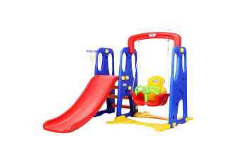 Keezi Kids Slide Swing Basketball Hoop Outdoor Indoor Playground Play slides