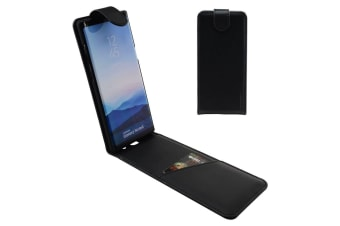 For Samsung Galaxy Note 8 Case iCL Vertical Flip Genuine Leather Cover Black