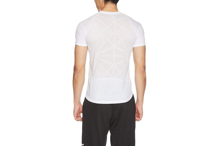 Under Armour Men's Threadborne Swyft Tee (White/Reflective, Size Small)