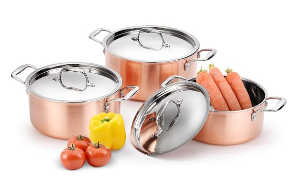 Ovela 12 Piece Fusion Copper Cookware Set