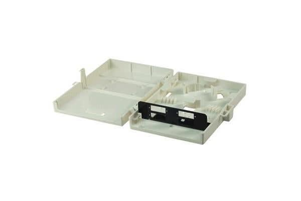 DYNAMIX Fibre Wall Enclosure 4 Port SC Duplex Unloaded Dimensions: 183x129x39mm (HxWxD)