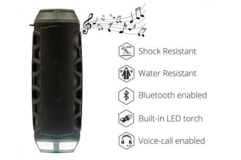 SONIQ Rock7 Portable Bluetooth Speaker- Black ABTS200BK