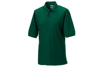 Russell Mens Classic Short Sleeve Polycotton Polo Shirt (Bottle Green)