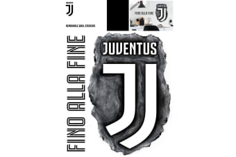 Juventus FC Crest Official Wall Art Sticker (Pack of 2) (Black/White)