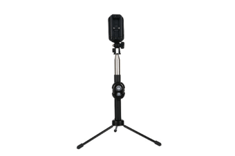 Select Mall Rotatable Mini Bluetooth Self-timer Lever Remote Control Telescopic Rod Tripod Mobile Phone Photo Bracket-Black