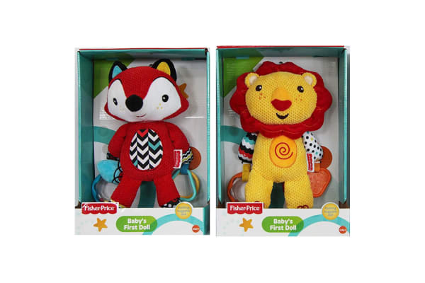 Fisher Price First Doll 25cm Soft Toy w/ Rattle f/ Baby 0m+