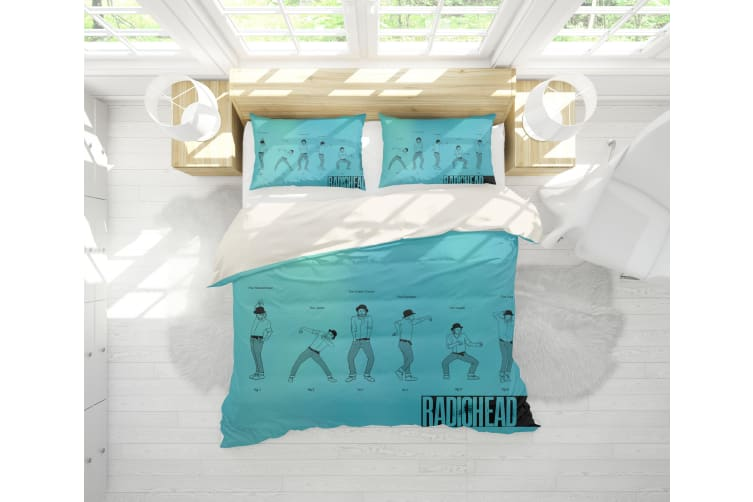 3D Band Radiohead Quilt Cover Set Bedding Set Pillowcases 65-Single