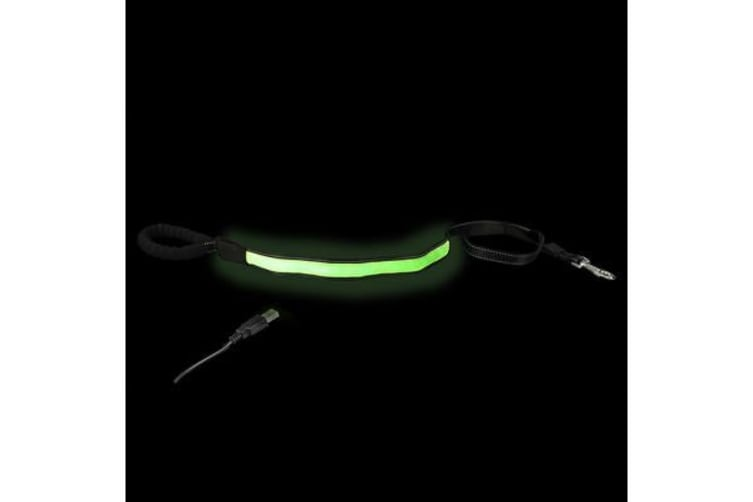 Loomo Comfort Handle LED Dog Lead Green