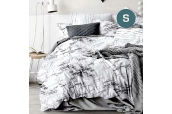 Single Size Marble Quilt/Doona Cover Set