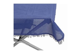 Brunner Bella Table Cloth With Fringe Border (Blue) (180 x 112cm)