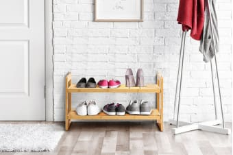 Ovela Bamboo 2-Tier Shoe Rack