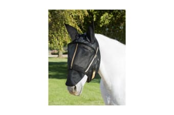 Noble Outfitters Guardsman Fly Mask With Ears (Black)