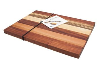 The Big Chop Gordon River Collection Rectangular Chopping Board 34x27x2cm 6 Timbers