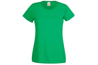Fruit Of The Loom Ladies/Womens Lady-Fit Valueweight Short Sleeve T-Shirt (Kelly Green) (M)