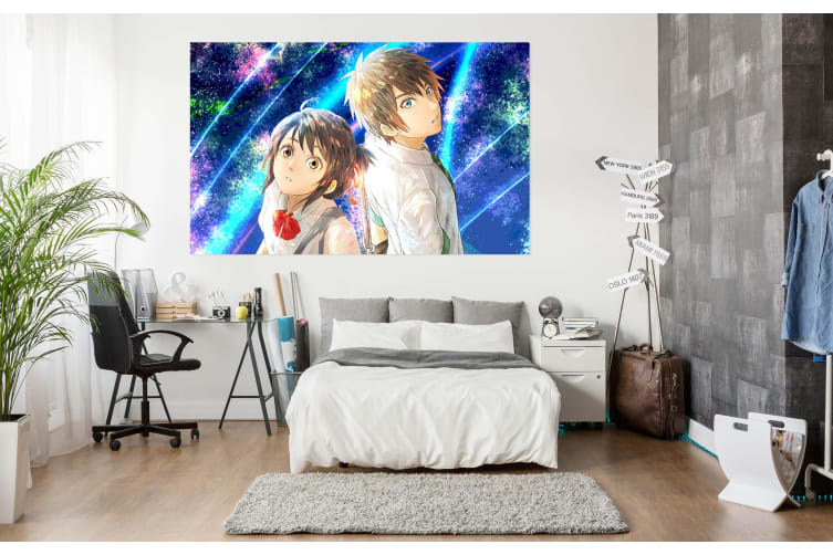 3D Your Name 21 Anime Wall Stickers Self-adhesive Vinyl, 180cm x 100cm(70.8'' x 39.3'') (WxH)