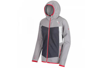 Regatta Womens/Ladies Carpo Hybrid Hooded Jacket (Silver Grey/Grey Blue) (UK Size 8)