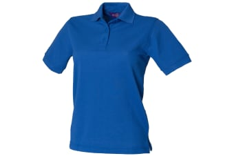 Henbury Womens/Ladies 65/35 Polo Shirt (Royal) (2XL)