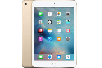 Used as demo Apple iPad Mini 4 128GB Wifi + Cellular Gold (100% Genuine)