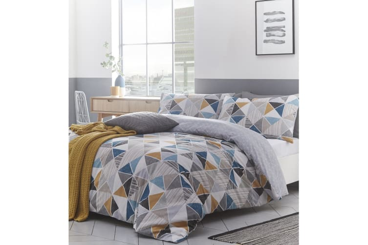 Creative Cloth Harlequin Duvet Cover Set (Multicoloured) (Single)
