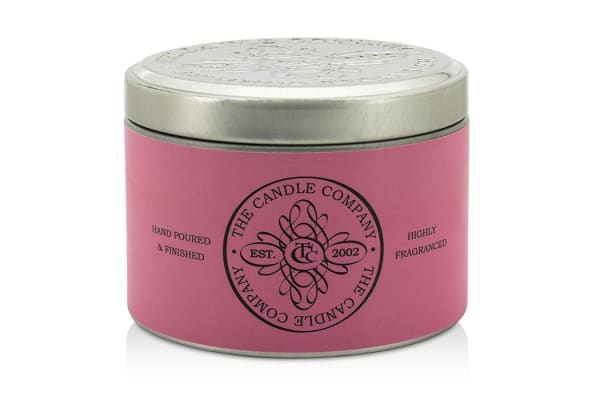 The Candle Company Tin Can Highly Fragranced Candle - Champagne Rose (Pink Can) ((1.5x3) inch)