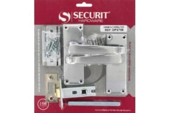 Securit Chrome Flat Internal Pack (Silver) (One Size)