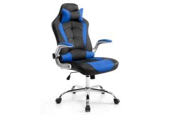 Neader PU Office Computer Chair Gaming Racing Chair - Black & Blue