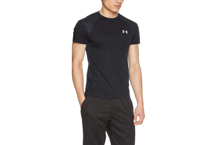 Under Armour Men's Threadborne Swyft Tee (Black/Reflective, Size Small)