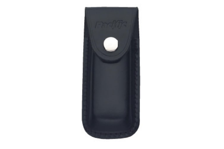 Pacific Cutlery Sheath - Leather Black Medium - 10cm L x 5cm W