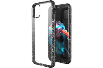 ZUSLAB iPhone 11 Pro Max Case Tough Fusion Shock Absorption Rubber Bumper Pro Maxtective Transparent Hard Back Clear Cover for Apple - Dot Black