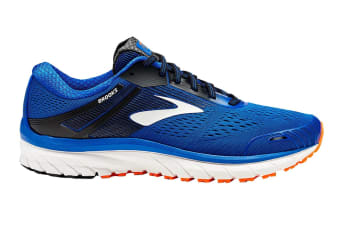 Brooks Men's Adrenaline GTS 18 (Blue/Black/Orange, Size 7.5)