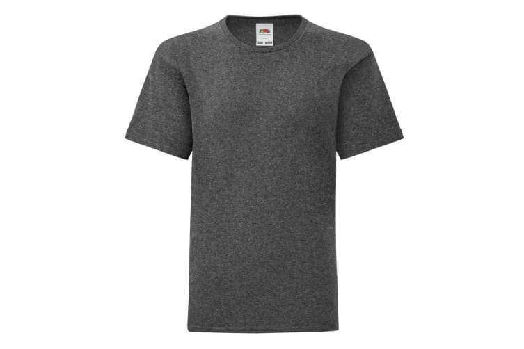 Fruit Of The Loom Childrens/Kids Iconic T-Shirt (Dark Heather) (9-11 Years)