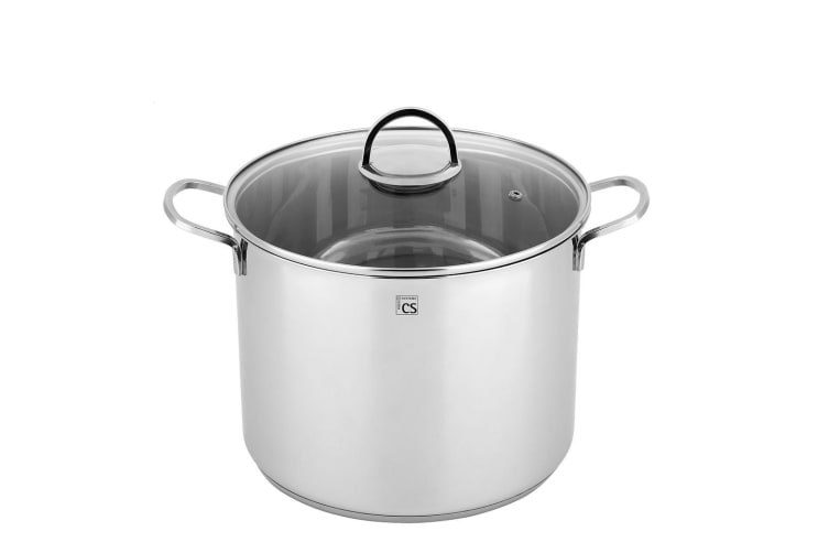 New TRIER 15.5L Stainless Steel High Casserole 28cm Stockpot Induction Cookware