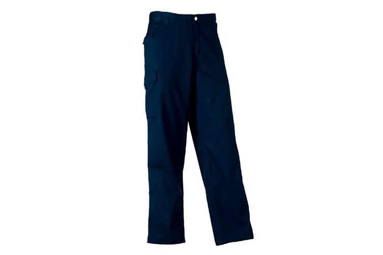 Russell Workwear Mens Polycotton Twill Trouser / Pants (Long) (French Navy) (38W x Long)