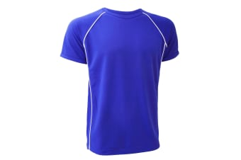 Finden & Hales Mens Coolplus Performance Sports T-Shirt (Royal/White)