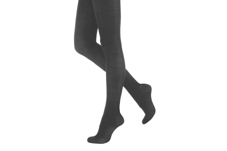 "Silky Womens/Ladies 200 Denier Appearance Fleece Tights (1 Pair) (Grey) (Large (42""-48""))"
