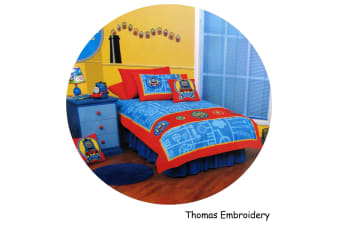 Thomas & Tank Embroidery Quilt Cover Set Double