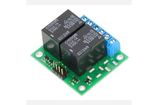 Pololu Basic 2-Channel SPDT Relay Carrier with 5VDC Relays (Assembled)